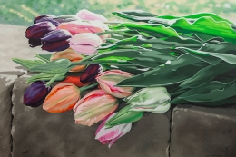 Reclining Tulips by Lenni Workman
