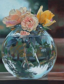 Bowl of Roses #2 by Lenni Workman